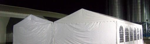 Парти шатри с размер 8х12м - 96 кв.м, 2 бр. монтирани една до друга с обща площ 192 кв.м